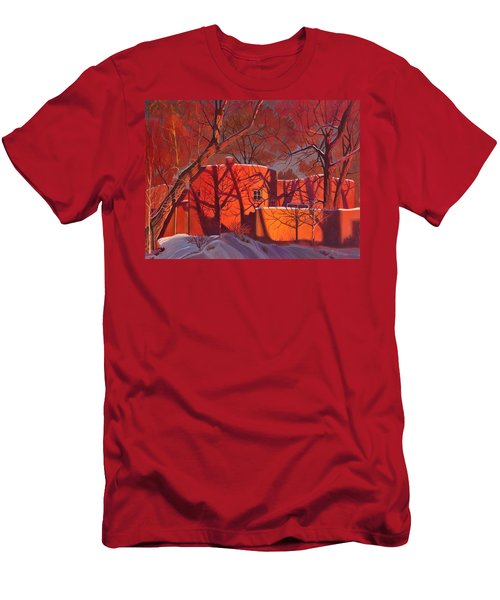 Evening Shadows On A Round Taos House Men's T-Shirt (Athletic Fit)