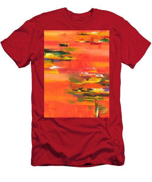 Men's T-Shirt (Athletic Fit) featuring the painting Exploring Evening by Arttantra