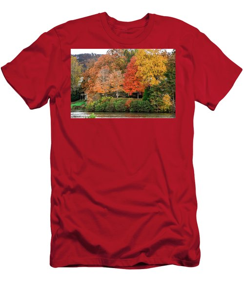 Fall At The Lake Men's T-Shirt (Athletic Fit)