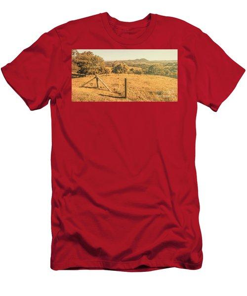 Farm Fields Of Eumundi, Sunshine Coast Men's T-Shirt (Athletic Fit)