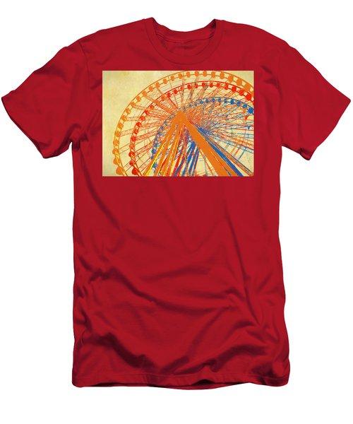 Ferris Wheel Multicolored Men's T-Shirt (Athletic Fit)