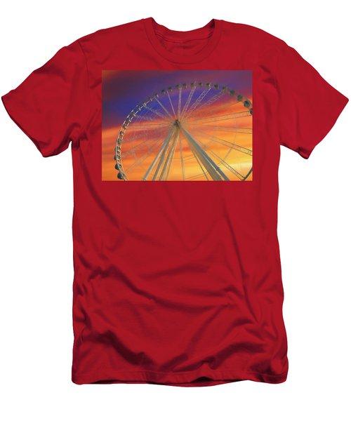 Ferris Wheel Sunset Sky Men's T-Shirt (Athletic Fit)