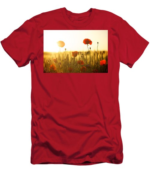 Field Of Poppies At Dawn Men's T-Shirt (Athletic Fit)