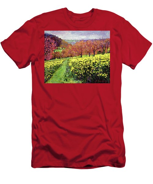 Fields Of Golden Daffodils Men's T-Shirt (Athletic Fit)