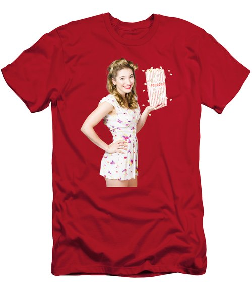Film And Cinema Pin-up Lady Men's T-Shirt (Athletic Fit)