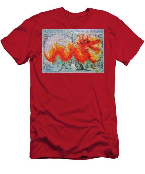 Fire Dragon  Men's T-Shirt (Athletic Fit)