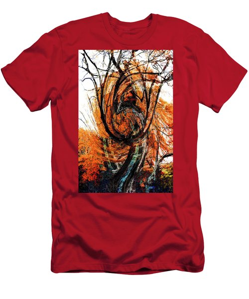 Men's T-Shirt (Athletic Fit) featuring the photograph Fire Tree 2 by Michael Arend