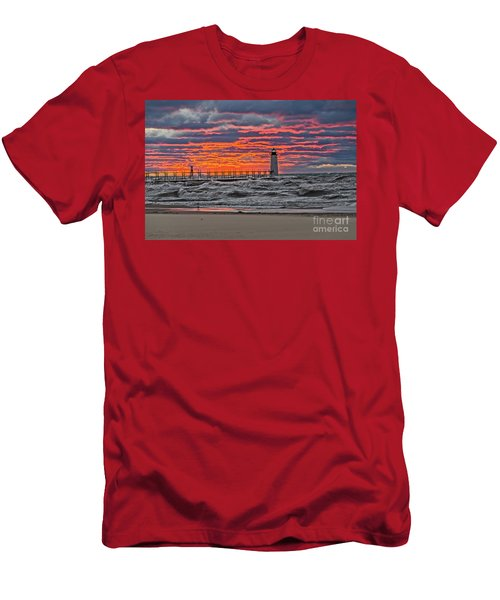 First Day Of Fall Sunset Men's T-Shirt (Athletic Fit)