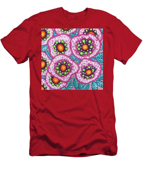 Floral Whimsy 10 Men's T-Shirt (Athletic Fit)