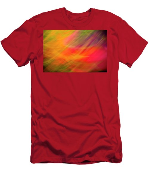Flowers In Abstract Men's T-Shirt (Athletic Fit)