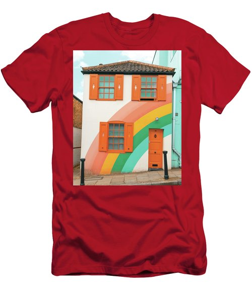 Funky Rainbow House Men's T-Shirt (Athletic Fit)
