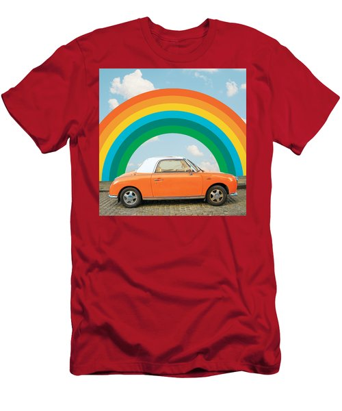 Funky Rainbow Ride Men's T-Shirt (Athletic Fit)