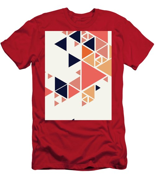 Men's T-Shirt (Athletic Fit) featuring the painting Geometric Painting 1 by Arttantra