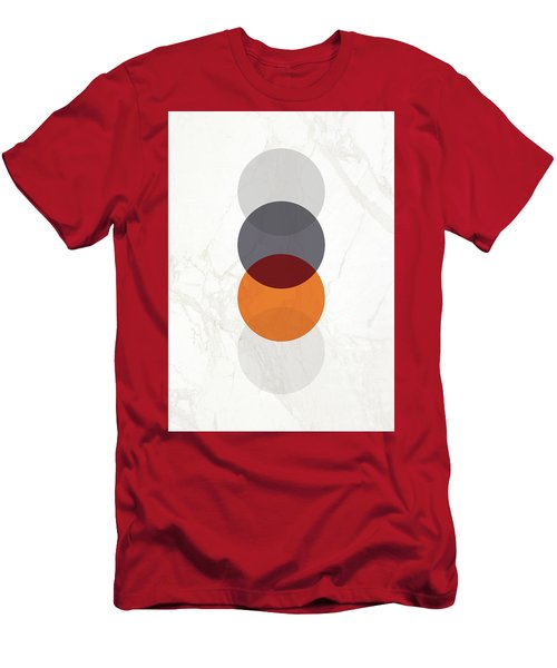 Men's T-Shirt (Athletic Fit) featuring the painting Geometric Painting 20 by Arttantra
