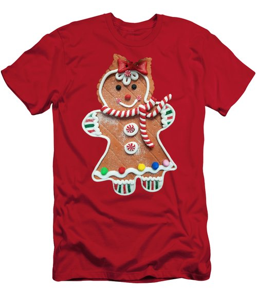 Gingerbread Cookie Girl Men's T-Shirt (Athletic Fit)