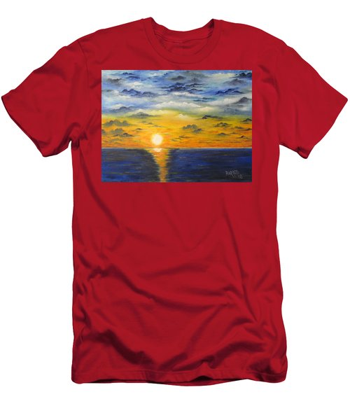 Glowing Sun Men's T-Shirt (Athletic Fit)