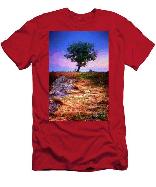Golden Grasses Of Autumn Ap Men's T-Shirt (Athletic Fit)