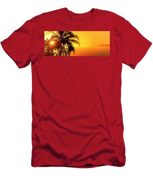 Golden Hawaiian Sunset Men's T-Shirt (Athletic Fit)