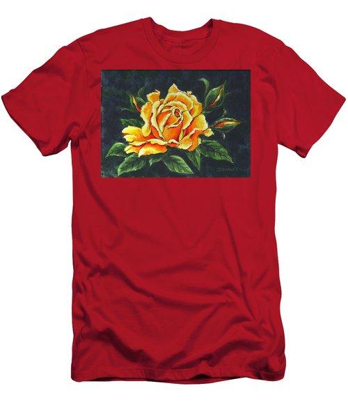 Golden Rose Sketch Men's T-Shirt (Athletic Fit)