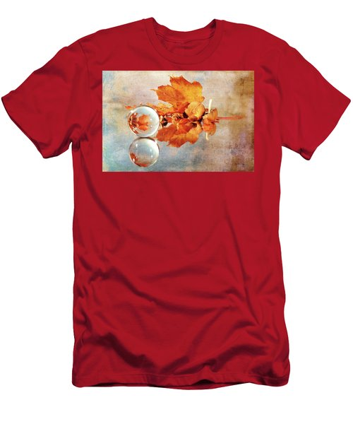 Men's T-Shirt (Athletic Fit) featuring the photograph Golden Tones Of Fall by Randi Grace Nilsberg