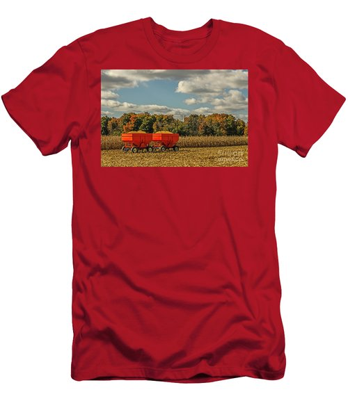 Grain Wagons Loaded With Maize Men's T-Shirt (Athletic Fit)