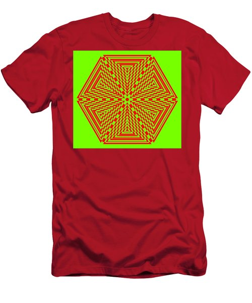 Green And Red Fusion  Men's T-Shirt (Athletic Fit)