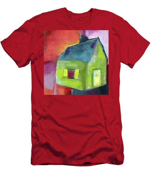 Green House- Art By Linda Woods Men's T-Shirt (Athletic Fit)