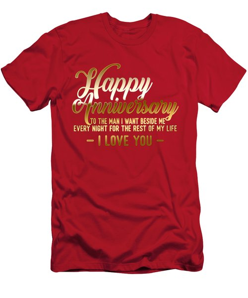 Happy Anniversary Men's T-Shirt (Athletic Fit)
