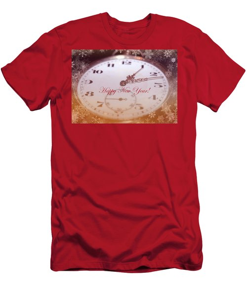 Happy New Year With Decorative And Nostalgic Theme. Men's T-Shirt (Athletic Fit)