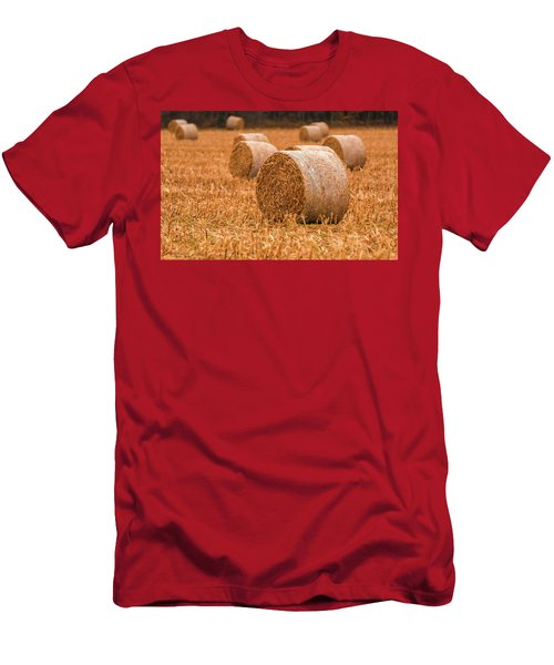Men's T-Shirt (Athletic Fit) featuring the photograph Hay Rolls by Dan Sproul