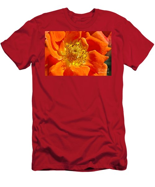 Heart Of The Orange Rose Men's T-Shirt (Athletic Fit)