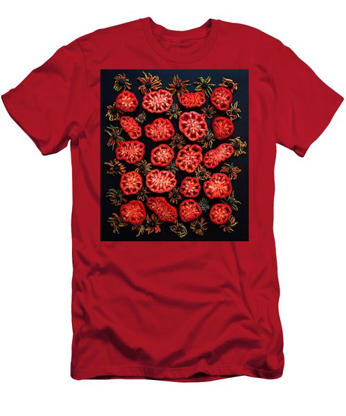 Heirloom Tomato Grid Men's T-Shirt (Athletic Fit)