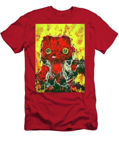 Men's T-Shirt (Athletic Fit) featuring the mixed media Hellboy by Al Matra