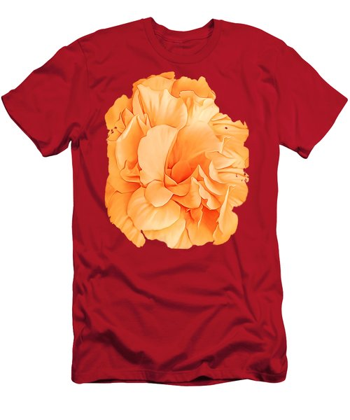 Hibiscus Rosa Double Petaled Yellow Men's T-Shirt (Athletic Fit)