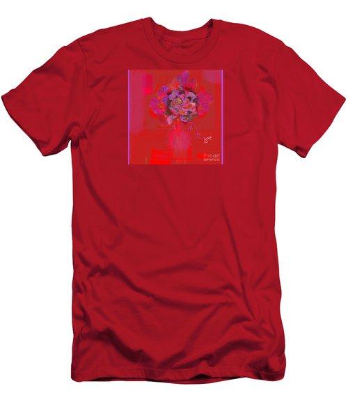 Hummingbirds Red Fantasy Men's T-Shirt (Athletic Fit)