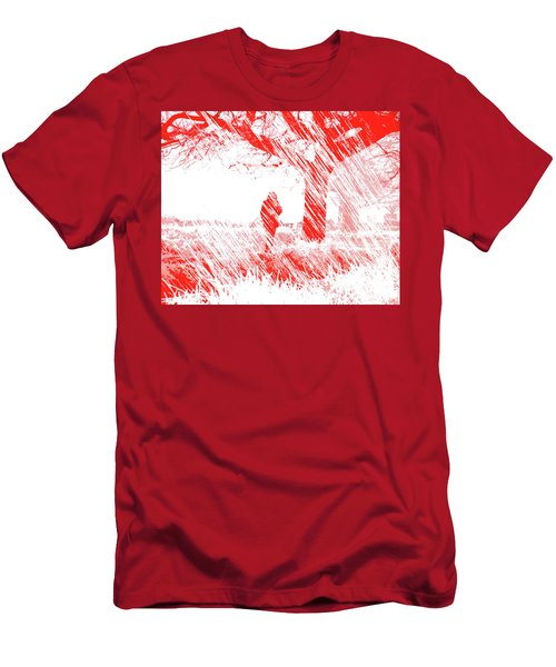Icy Shards Fall On Setttled Snow Men's T-Shirt (Athletic Fit)