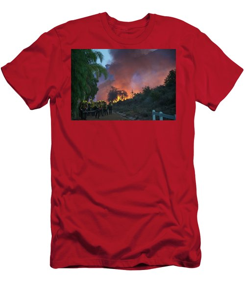 Men's T-Shirt (Athletic Fit) featuring the photograph In The Line Of Duty by Lynn Bauer