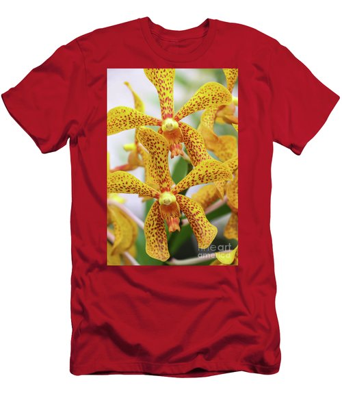 Intriguing Yellow Spider Orchids Men's T-Shirt (Athletic Fit)