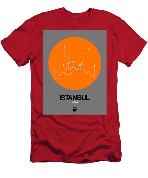 Istanbul Orange Subway Map Men's T-Shirt (Athletic Fit)