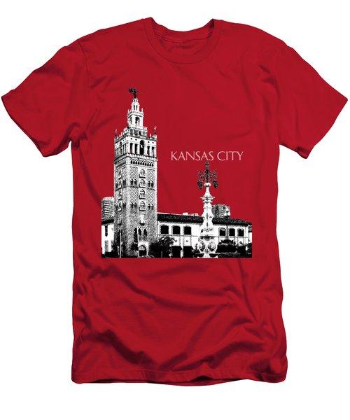 Kansas City Skyline 2 - Dark Orange Men's T-Shirt (Athletic Fit)