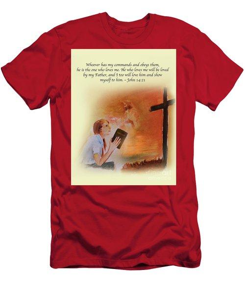 Keeps My Commandments Men's T-Shirt (Athletic Fit)