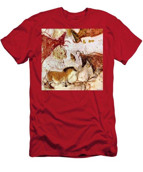 Lascaux Horse And Cows Men's T-Shirt (Athletic Fit)