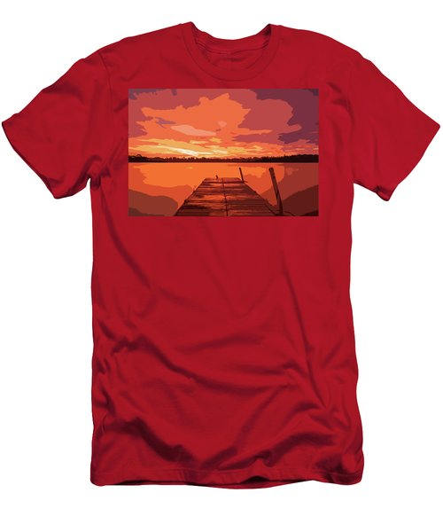 Last Light On The Lake Men's T-Shirt (Athletic Fit)