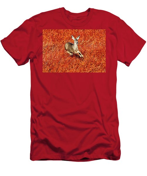 Leaping Deer Men's T-Shirt (Athletic Fit)