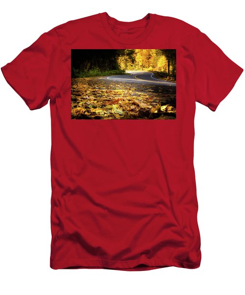 Leaves Along The Road Men's T-Shirt (Athletic Fit)