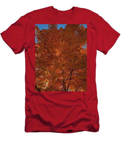Leaves Of Fire Men's T-Shirt (Athletic Fit)