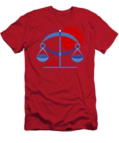 Libra - Scales Men's T-Shirt (Athletic Fit)