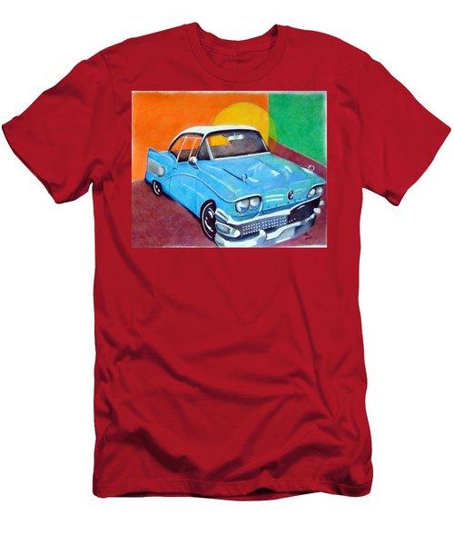 Light Blue 1950s Car  Men's T-Shirt (Athletic Fit)