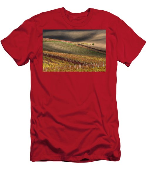 Line And Wine 1 Men's T-Shirt (Athletic Fit)