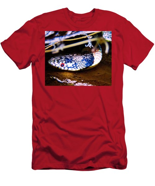 Men's T-Shirt (Athletic Fit) featuring the photograph Longnosed Snake Portrait by Judy Kennedy